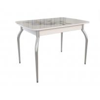 Раздвижной стол «Танго» со стеклянным  покрытием и фотопечатью, мотив: Орхидея