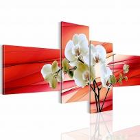 """Картина 4-х предметная """"Орхидеи"""" 150х60 / 200х100 см"""