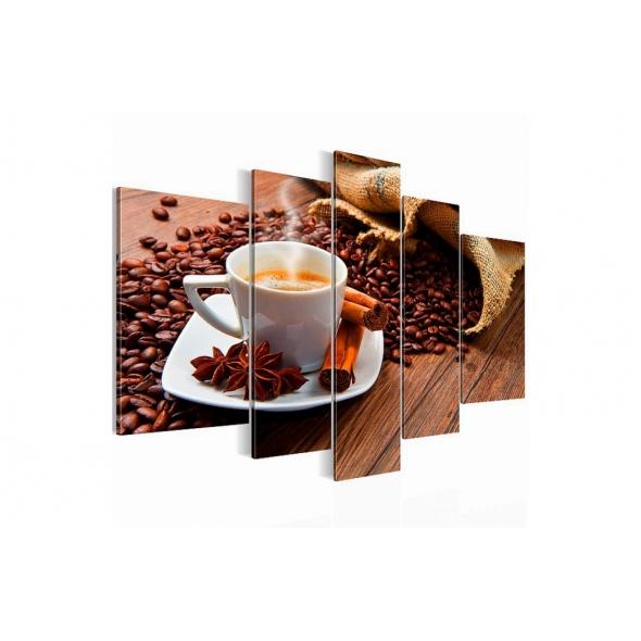 "Картина 5-и предметная ""Кофе"" 150х75 / 200х100 см"