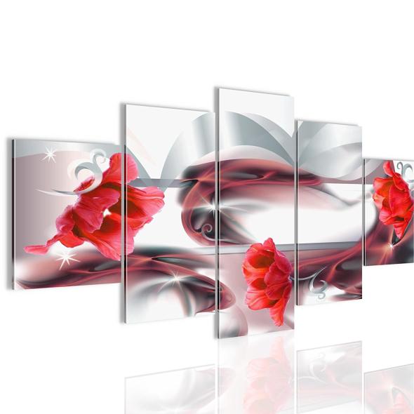 """Картина 5-и предметная """"Тюльпаны"""" 100х50 см"""