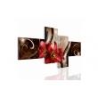 """Картина 4-х предметная """"Красные Лилии"""" 150х60 / 200х100 см"""