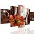 """Картина 5-и предметная """"Красные Лилии"""" 150х75 / 200х100 см"""