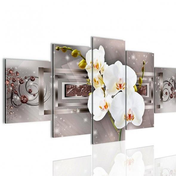 "Картина 5-и предметная ""Орхидеи"" 150x75 / 200х100 см"