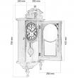 Массивные настенные часы «Генрих»