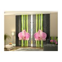 3-D Фото шторы панельные - Орхидеи и бамбук