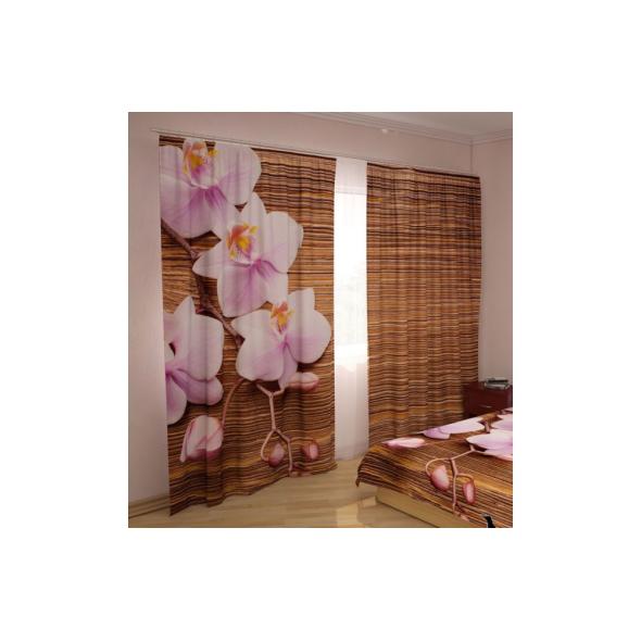 3-D Фото шторы - Орхидеи и дерево