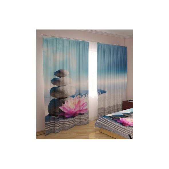 3-D Фото шторы - Лилия на пескe