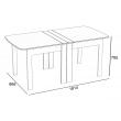 Раскладной стол CK-2 Дуб белёный