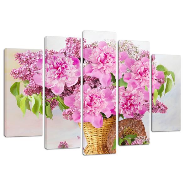 """Картина 5-и предметная """"Цветы"""" 135х82см"""